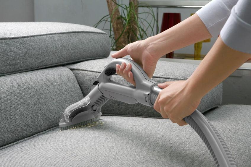 53562289 - vacuum cleaner. woman use vacuum cleaner